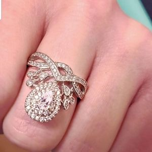 ring Jewelry - 925 Diamond Crystal Ring